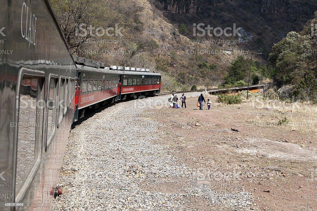Copper canyon train, in Mexico stock photo