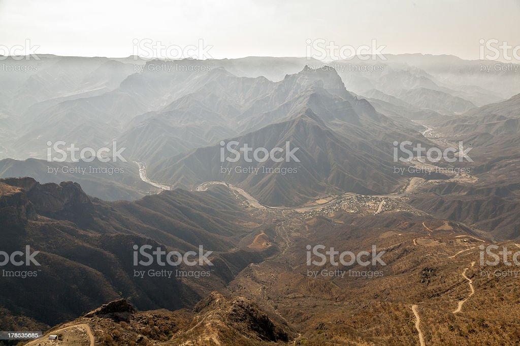 Copper canyon view stock photo