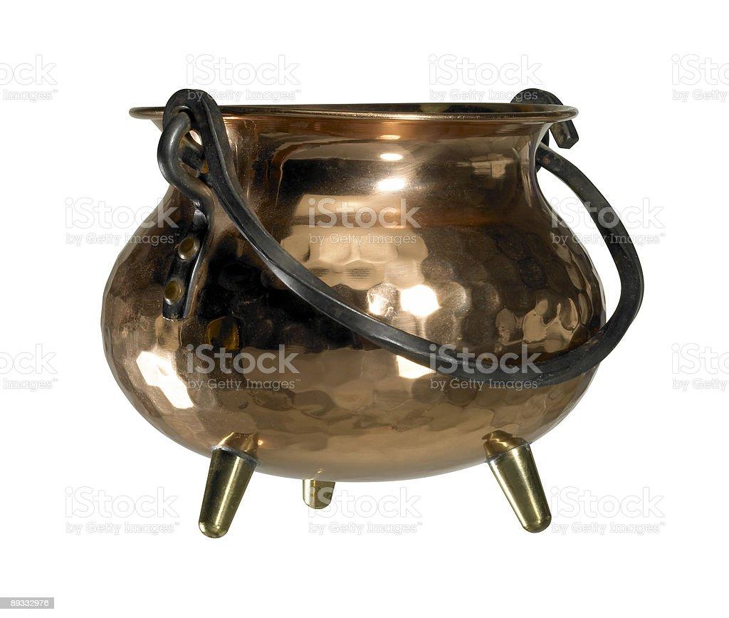 copper cauldron stock photo