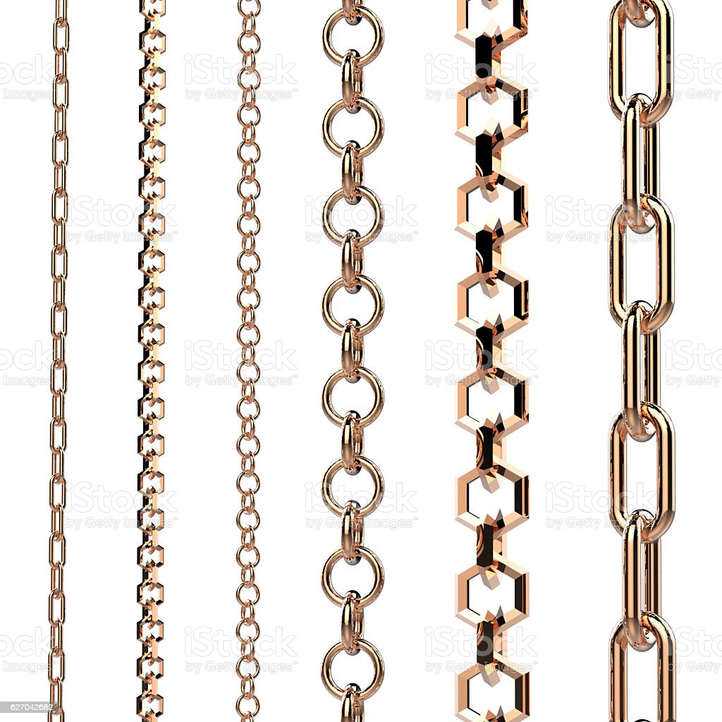 copper chains stock photo