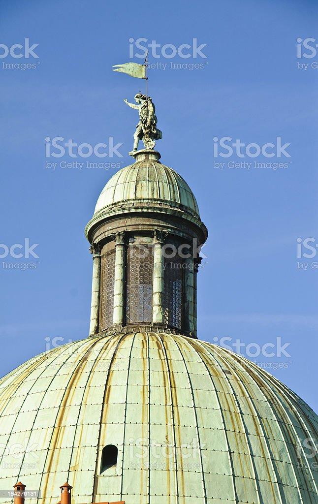 Copper Church Dome stock photo