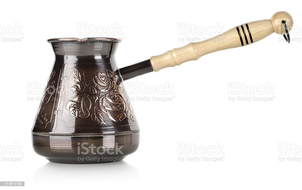 Copper coffee pot royalty-free stock photo