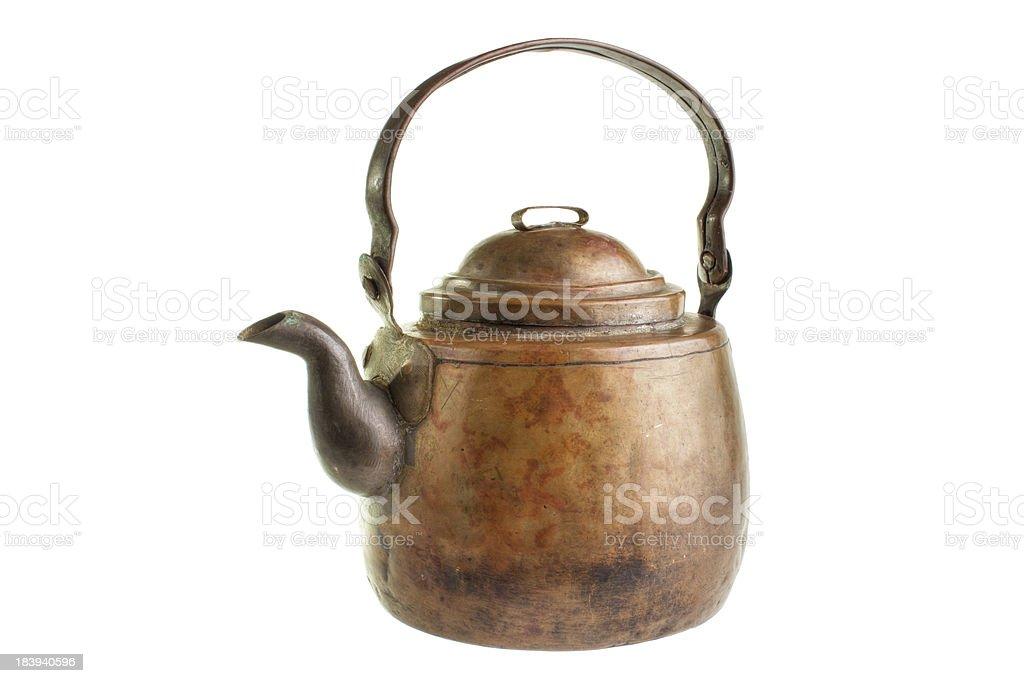 Copper coffee pot royalty-free stock photo