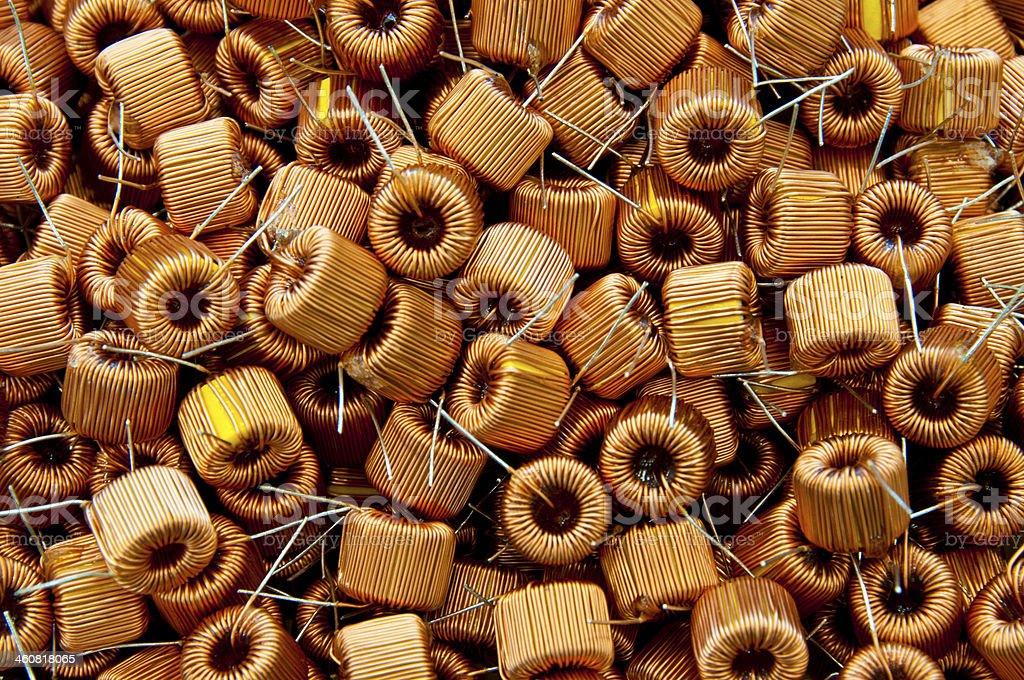 copper coil stock photo