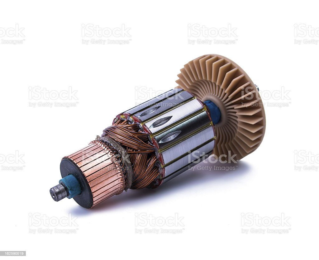 Copper Coils inside Electric Motor royalty-free stock photo