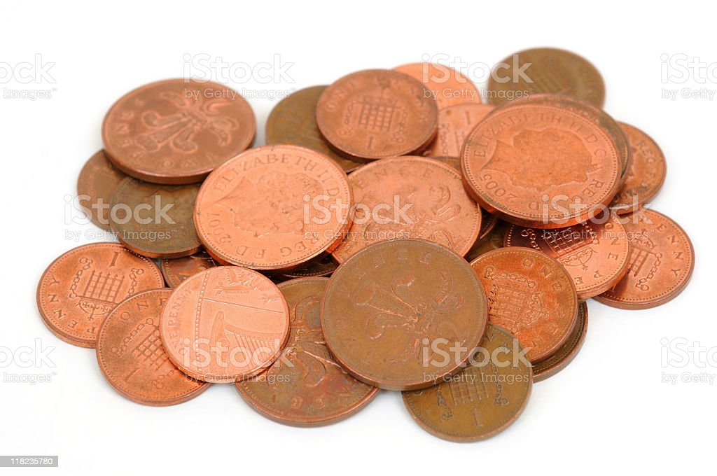 Copper Coins royalty-free stock photo