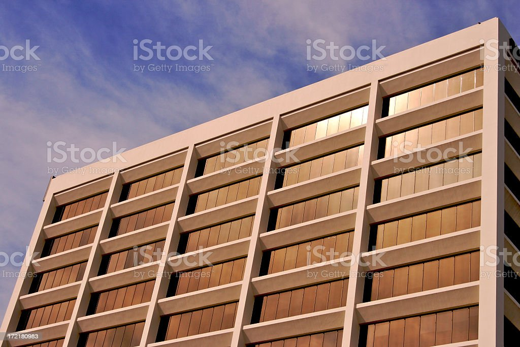 Copper Colored Building royalty-free stock photo