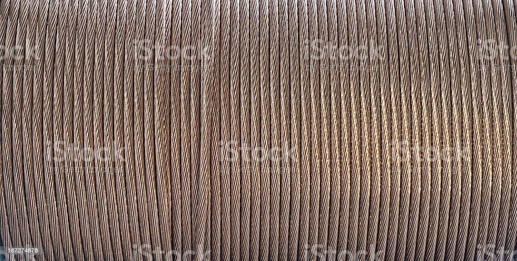 copper cord wire on cable roll royalty-free stock photo
