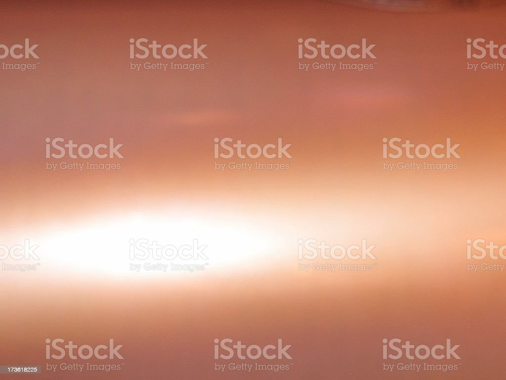 Copper cylinder stock photo