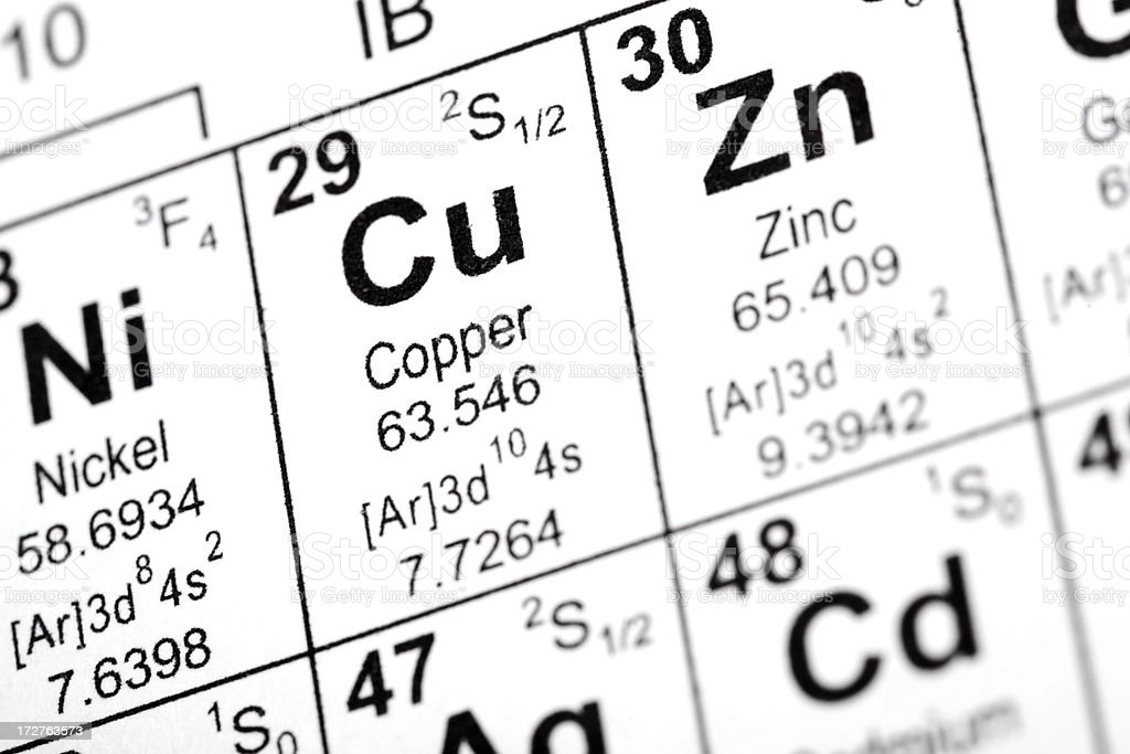 Copper Element royalty-free stock photo