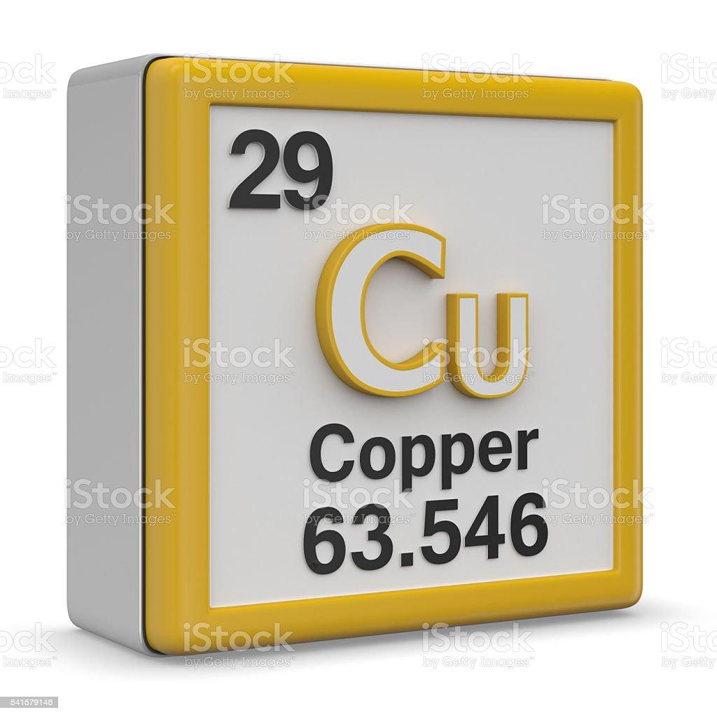 Copper element stock photo