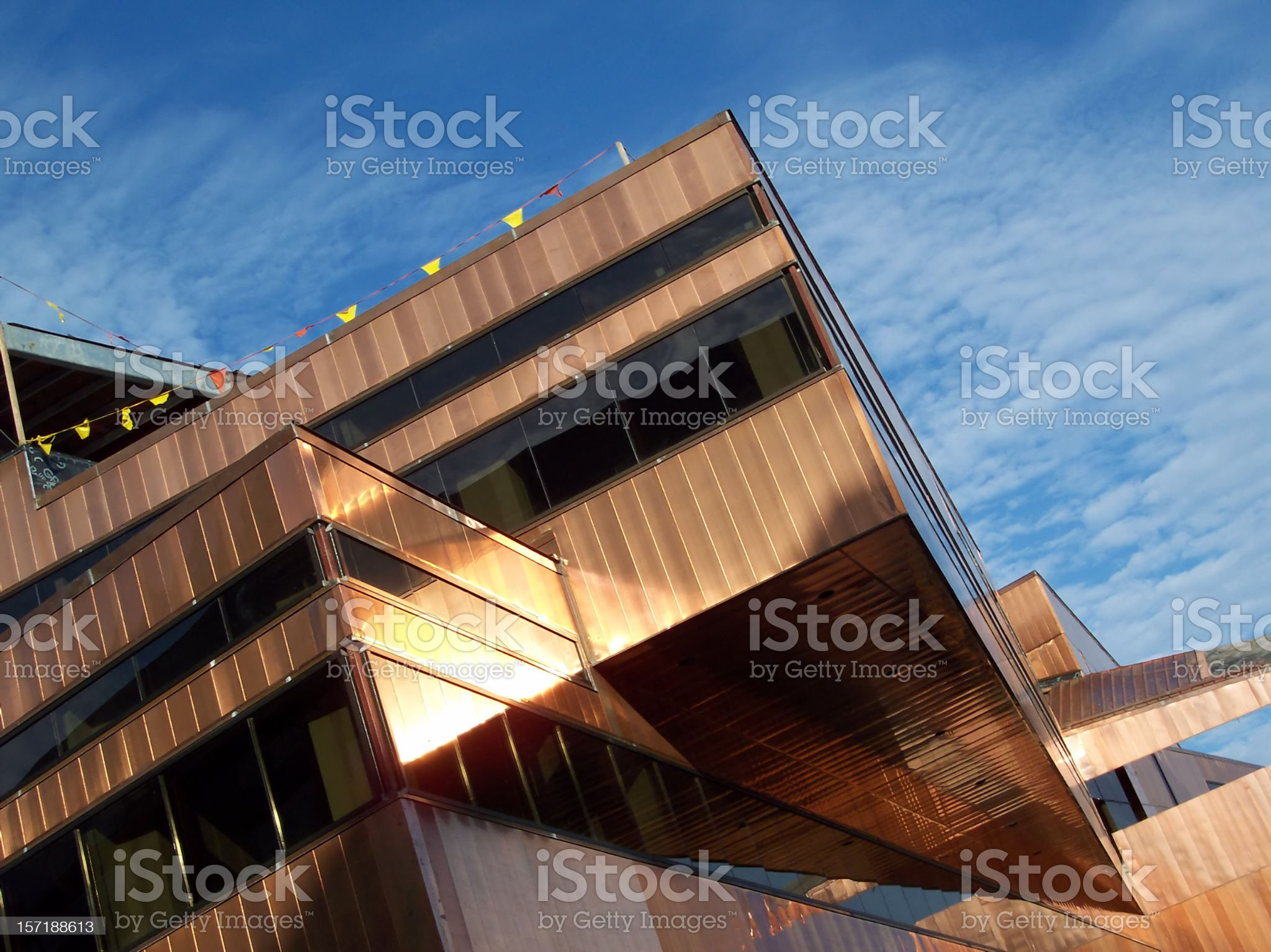 Copper Exterior of Austin City Hall royalty-free stock photo