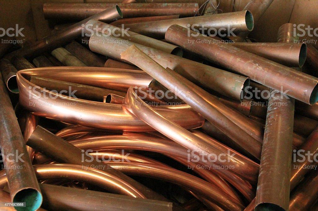 Copper for scrap stock photo