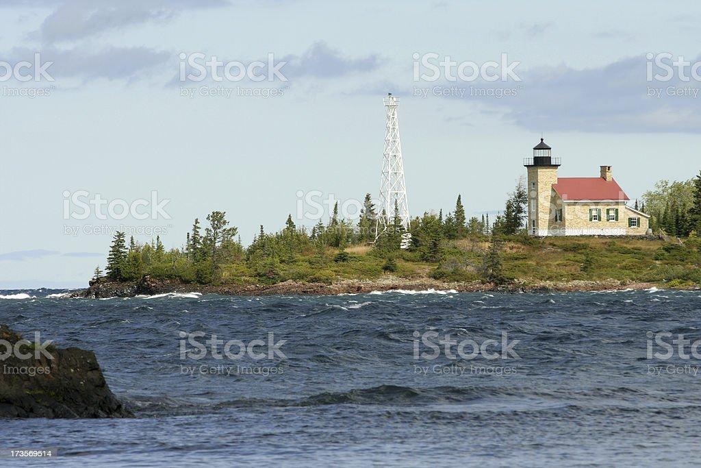 Copper Harbor Lighthouse stock photo