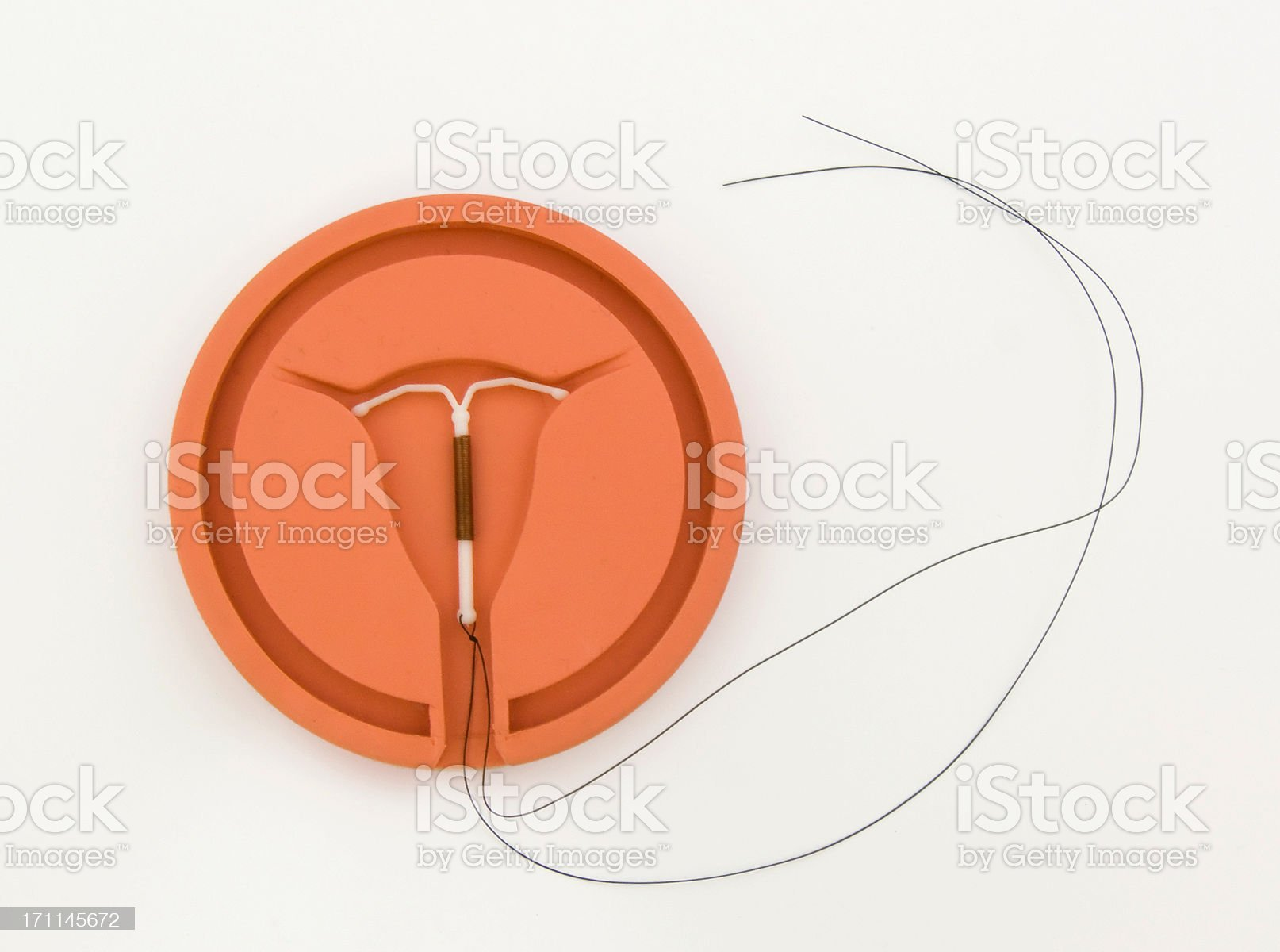 Copper IUD royalty-free stock photo
