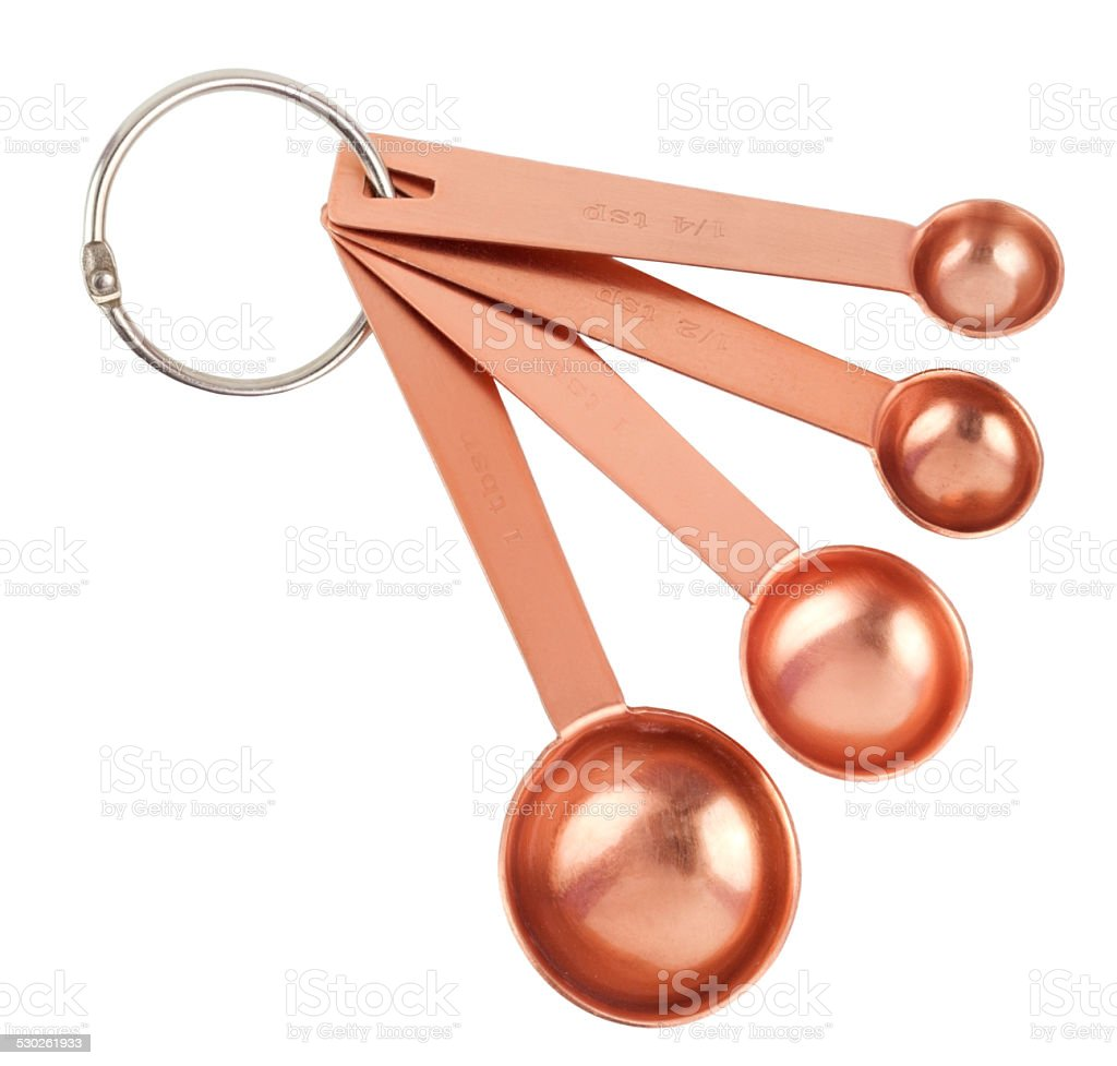 Copper Measuring Spoons stock photo