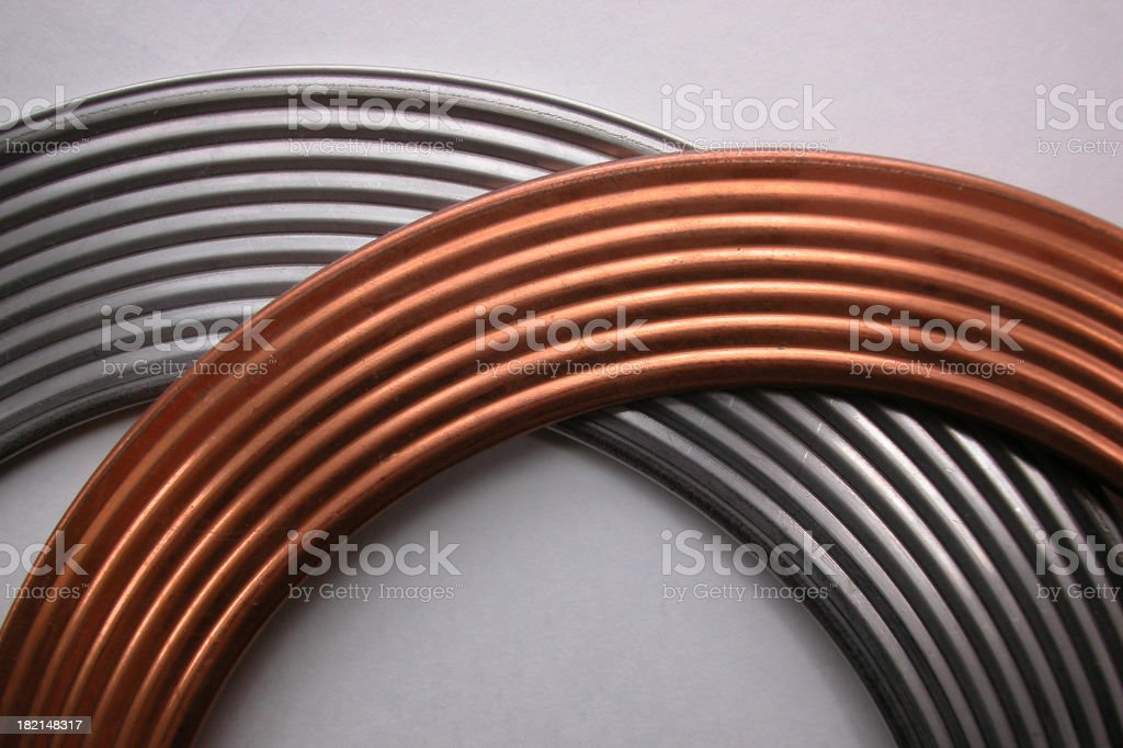 copper meets stainless stock photo