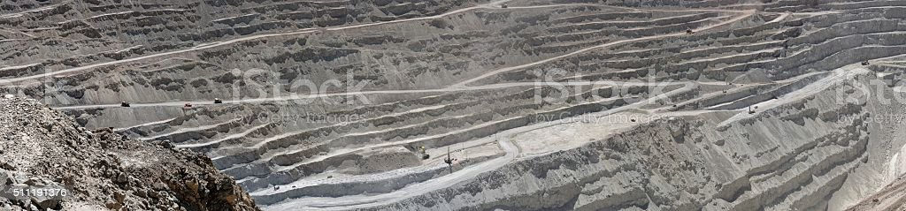 Copper mine in Chile royalty-free stock photo