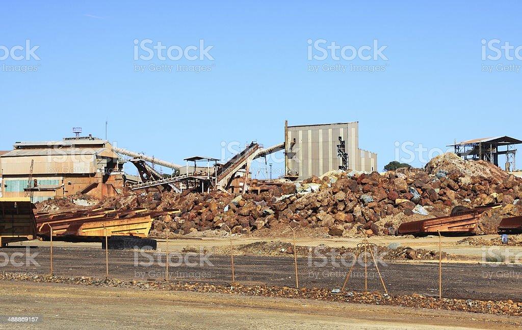 copper mine, Minas de Riotinto, Andalusia, Spain stock photo