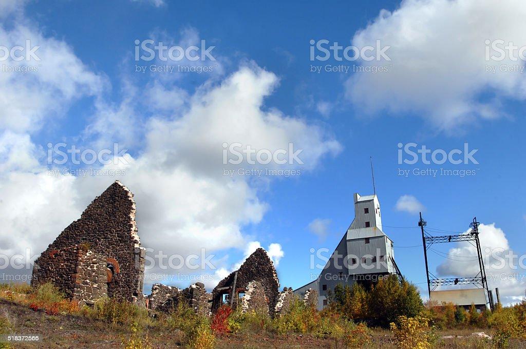 Copper Mine Relics stock photo