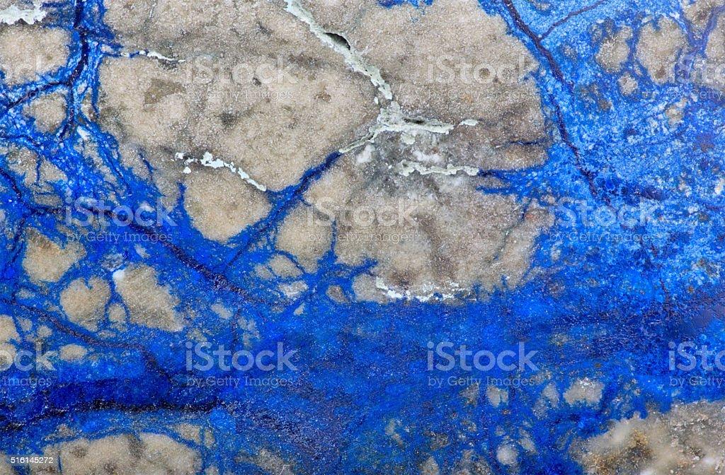 copper mineral azurite closeup stock photo