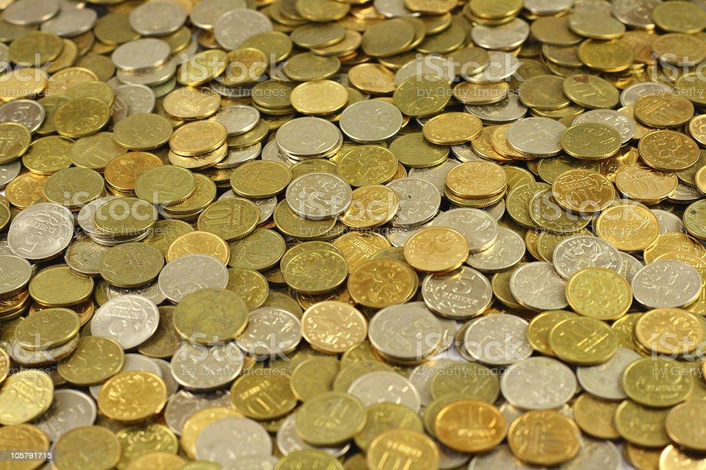 Copper money. stock photo