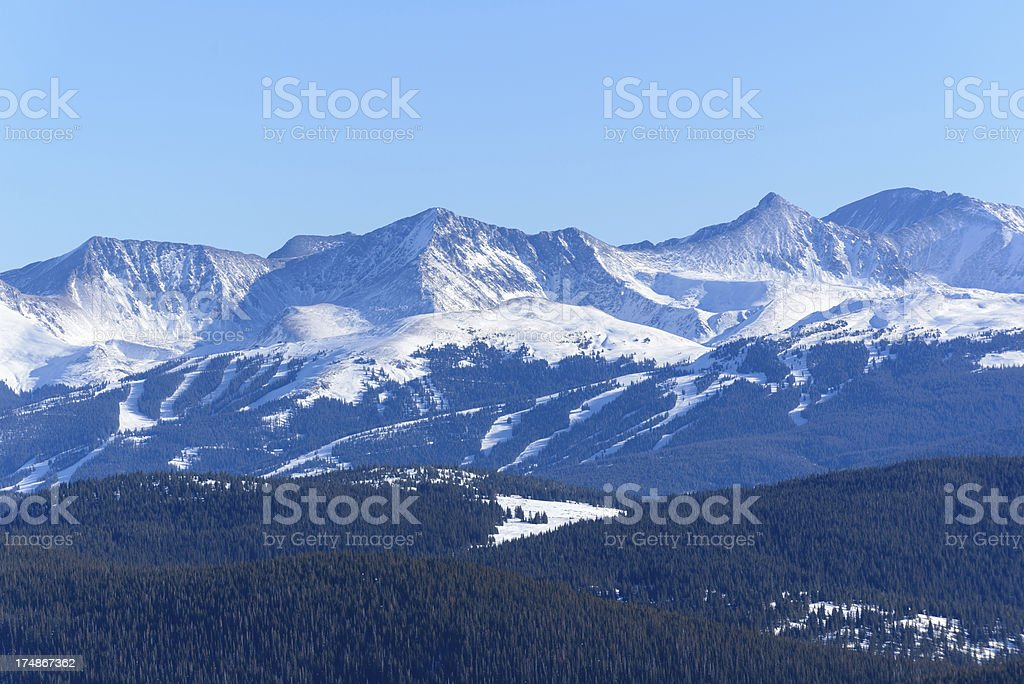 Copper Mountain Colorado stock photo