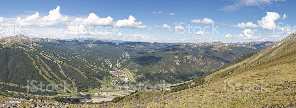 Copper Mountain Ski Area Panorama stock photo