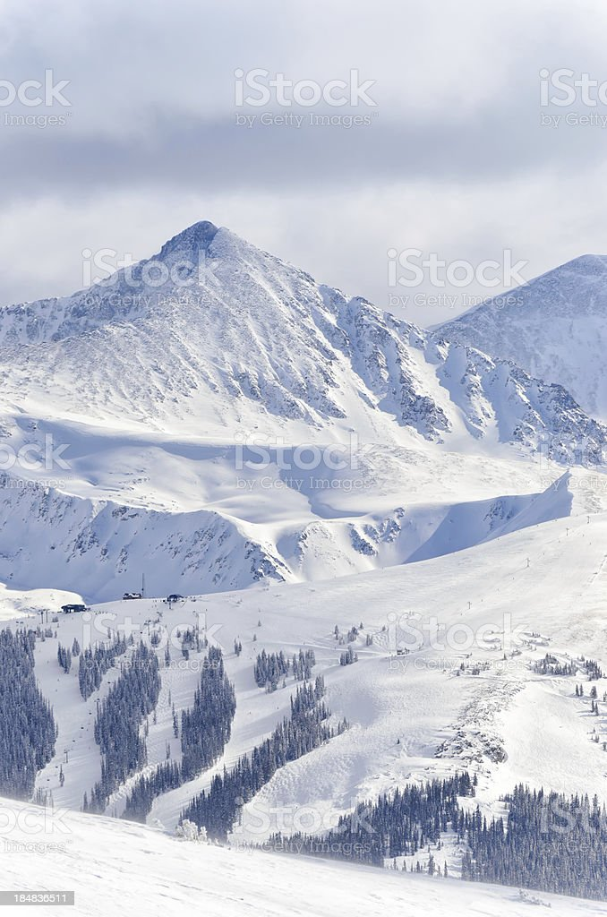 Copper Mountain Ski Runs stock photo