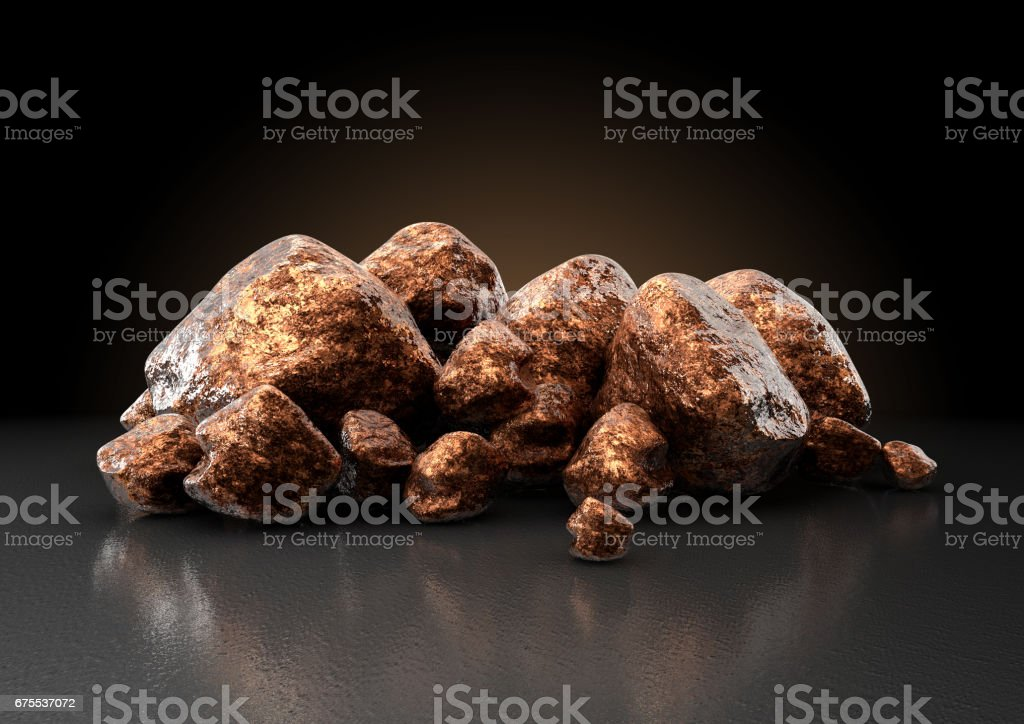 Copper Nugget Collection stock photo
