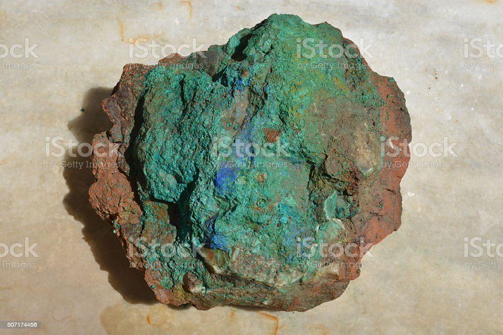 Copper ore, Afghanistan stock photo