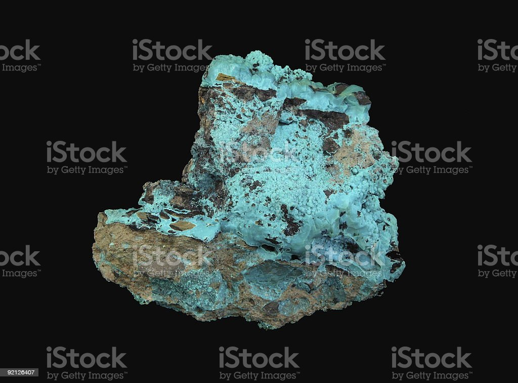 Copper Ore -Chrysocolla royalty-free stock photo