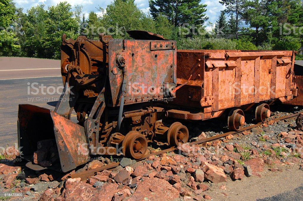 Copper Ore Loader stock photo