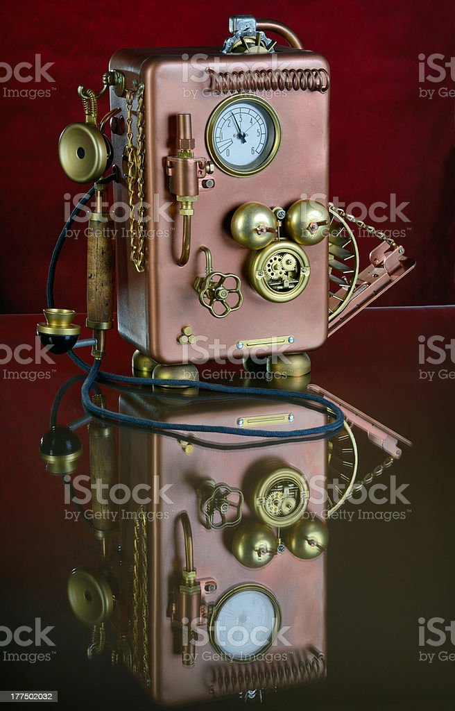 Copper Phone. royalty-free stock photo
