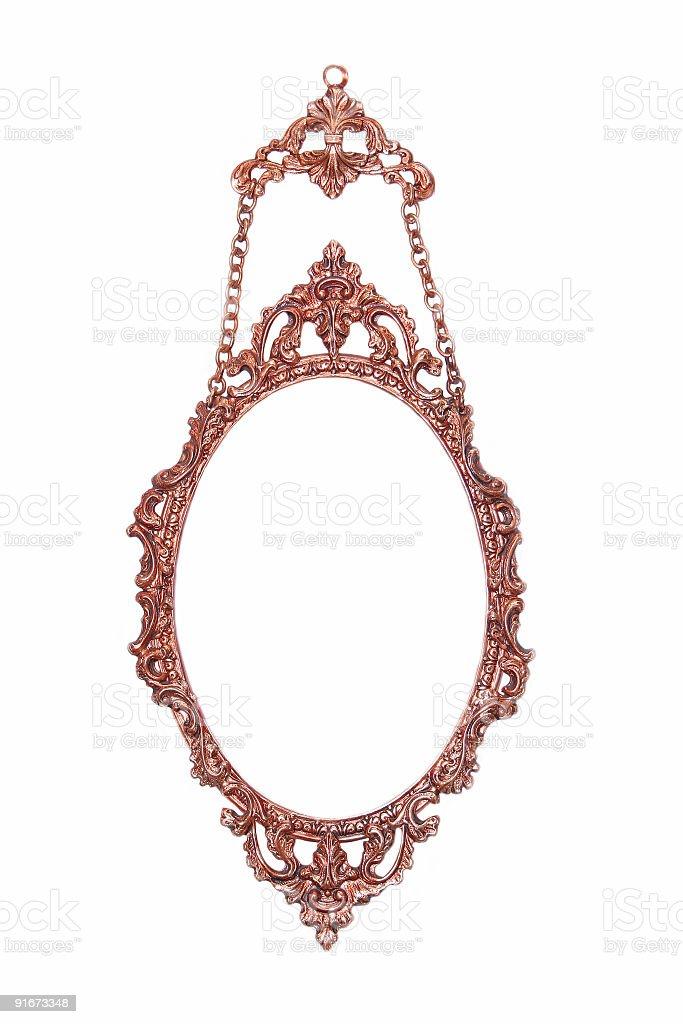 copper picture frame stock photo