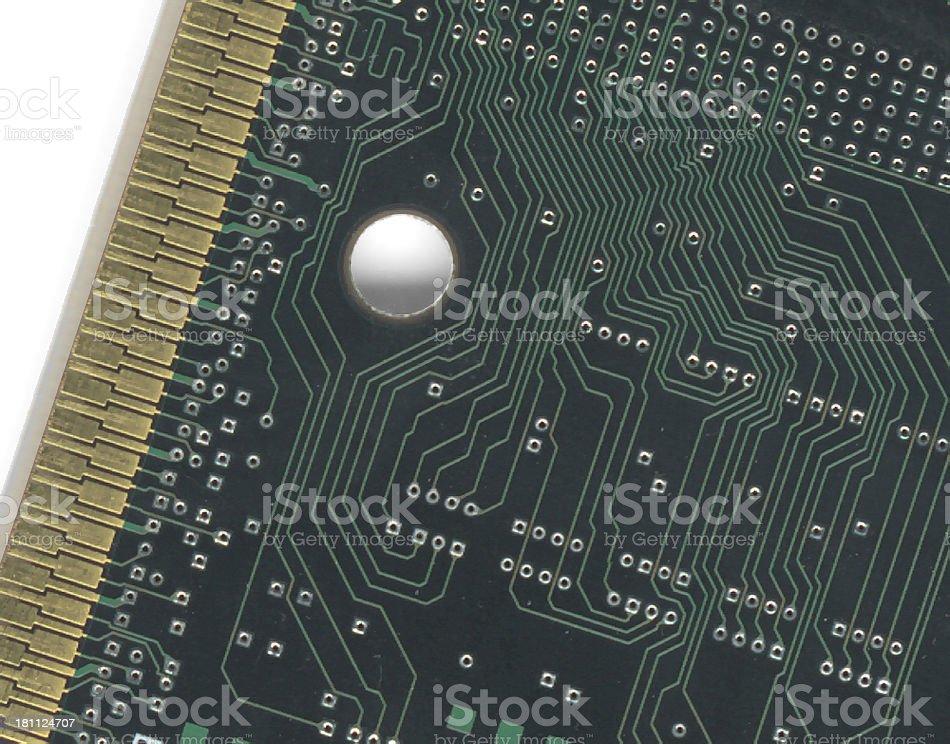 Copper (PC board) stock photo