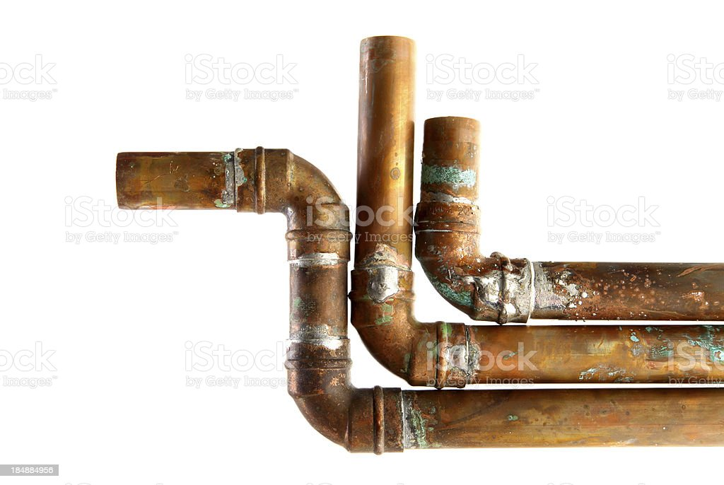 Copper pipe royalty-free stock photo