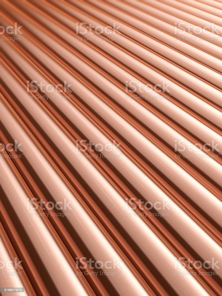 Copper pipes background stock photo