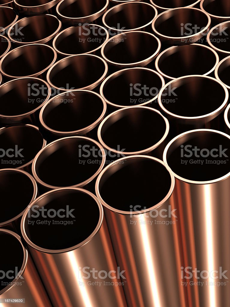 Copper Pipes royalty-free stock photo
