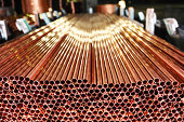 Copper pipes production