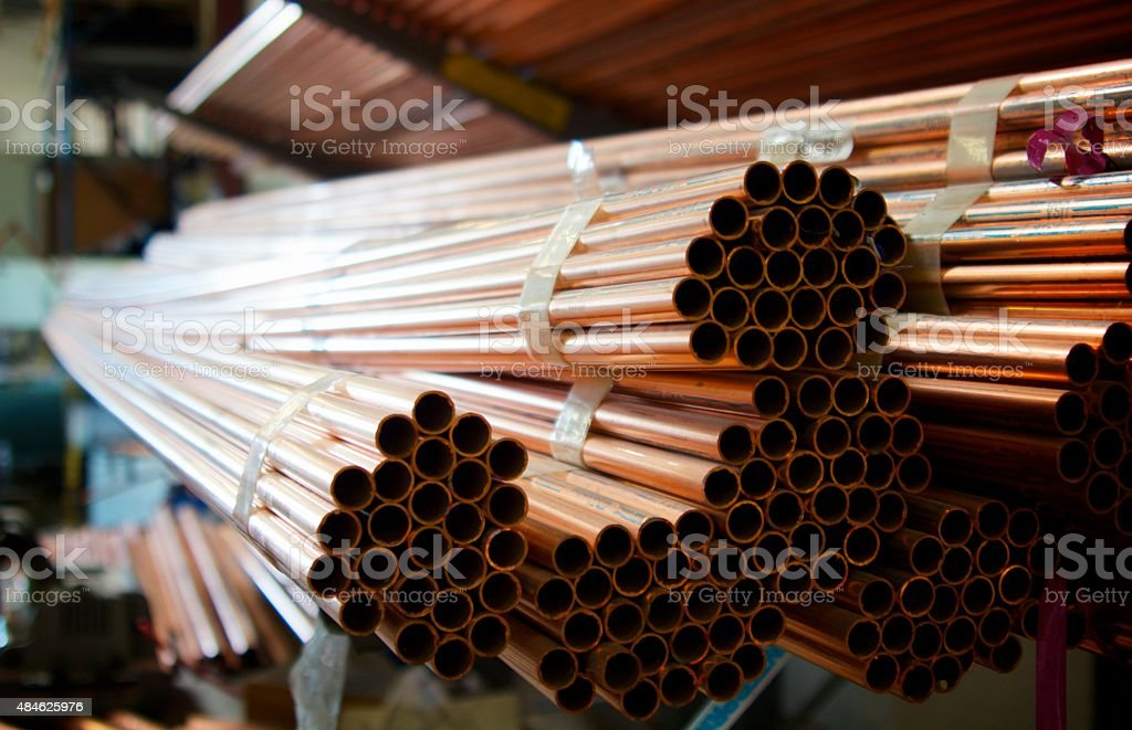 Copper Piping stock photo
