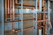 Copper Plumbing Rough-in with Steel Stud Construction