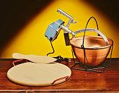 Copper pot to make cornmeal mush