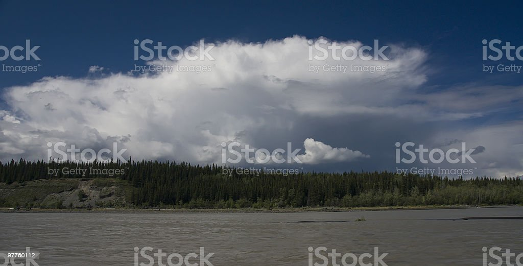 Copper River, Alaska - Panoramic stock photo