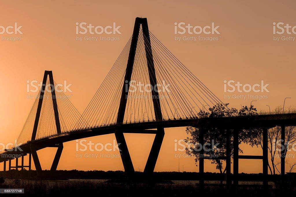 Copper River Bridge - Charleston 1 stock photo
