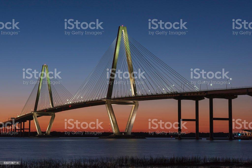 Copper River Bridge - Charleston 3 stock photo