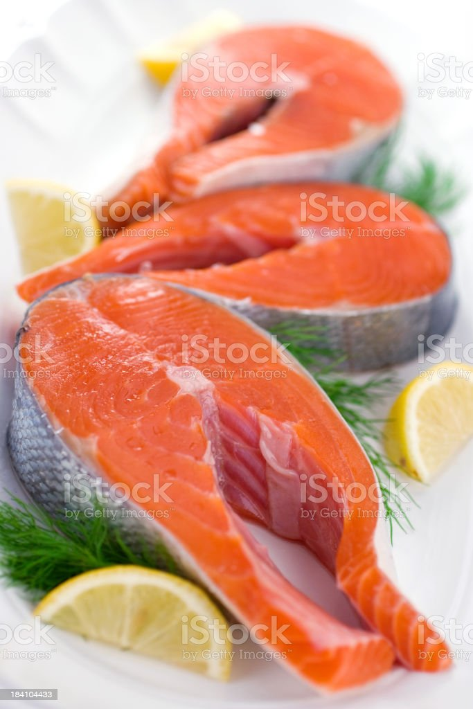 Copper River Salmon royalty-free stock photo