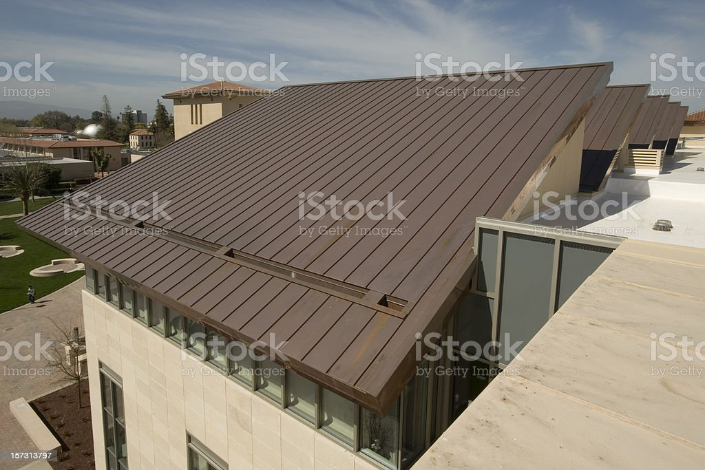 Copper Roof royalty-free stock photo