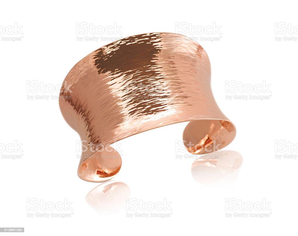 Copper Rose Gold Bracelet stock photo