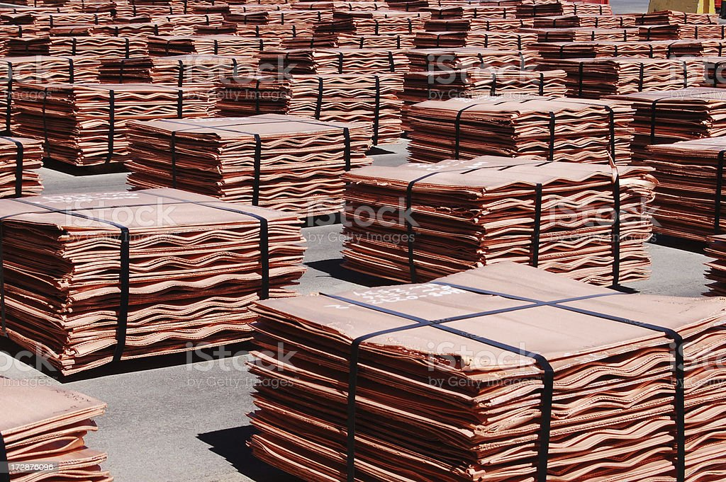 Copper Sheets stock photo